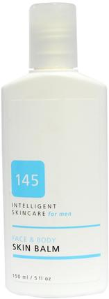 145 Intelligent Skincare for Men, Face & Body Skin Balm, 5 fl oz (150 ml) by Earth Science, 地球科學,抗衰老 HK 香港