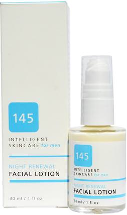 145 Intelligent Skincare for Men, Night Renewal Facial Lotion, 1 fl oz (30 ml) by Earth Science, 地球科學,抗衰老 HK 香港