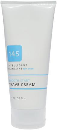 145 Intelligent Skincare for Men, Smooth Start Shave Cream, 5.9 fl oz (174 ml) by Earth Science, 地球科學,洗澡,美容,剃須膏 HK 香港