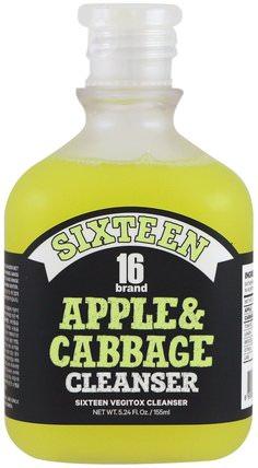 Vegitox Apple & Cabbage Cleanser, 5.24 fl oz (155 ml) by 16 Brand, 美容,面部護理,洗面奶 HK 香港