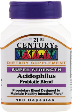 Acidophilus Probiotic Blend, 100 Capsules by 21st Century, 補充劑,益生菌,穩定的益生菌 HK 香港