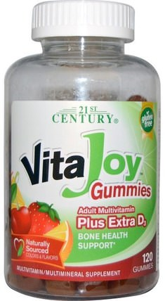VitaJoy Gummies, Adult Multivitamin Plus Extra D3, 120 Gummies by 21st Century, 熱敏感產品,維生素,多種維生素gummies HK 香港