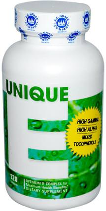 Unique E, 120 Softgels by A.C. Grace Company, 維生素,維生素E,維生素E混合生育酚 HK 香港