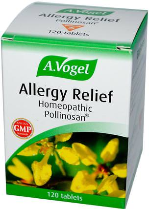 Allergy Relief, 120 Tablets by A Vogel, 補品,順勢療法,過敏,過敏 HK 香港
