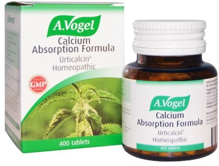 Calcium Absorption Formula, Urticalcin Homeopathic, 400 Tablets by A Vogel, 補品,順勢療法,骨骼,骨質疏鬆症 HK 香港