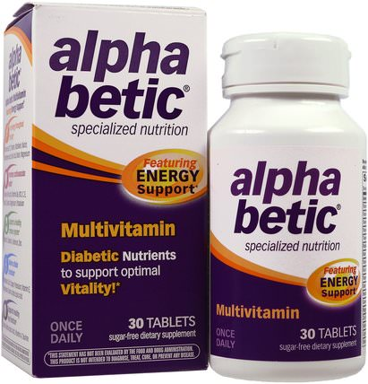 Alpha Betic, Multivitamin, 30 Tablets by Abkit, 健康,血糖 HK 香港