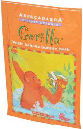 Gorilla Jungle Banana Bubble Bath, 2.5 oz (71 g) by Abra Therapeutics, 洗澡,美容,泡泡浴鹽 HK 香港