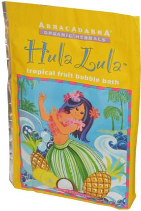 Hula Lula Tropical Fruit Bubble Bath, 2.5 oz (71 g) by Abra Therapeutics, 洗澡,美容,泡泡浴鹽 HK 香港