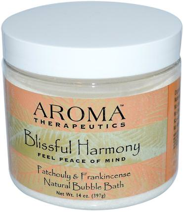 Natural Bubble Bath, Blissful Harmony, Patchouli & Frankincense, 14 oz (397 g) by Abra Therapeutics, 洗澡,美容,泡泡浴 HK 香港
