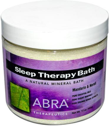 Sleep Therapy Bath, Mandarin & Neroli, 17 oz (482 g) by Abra Therapeutics, 沐浴,美容,沐浴油,沐浴鹽 HK 香港