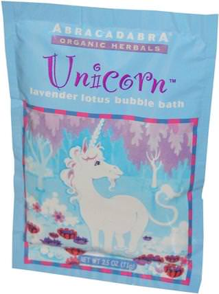 Unicorn, Lavender Lotus Bubble Bath, 2.5 oz (71 g) by Abra Therapeutics, 洗澡,美容,泡泡浴鹽 HK 香港