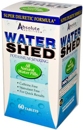 Watershed, 60 Tablets by Absolute Nutrition, 補充劑,利尿劑水丸 HK 香港