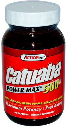 Catuaba Power Max 500, 60 Capsules by Action Labs, 健康,男人,卡圖巴 HK 香港