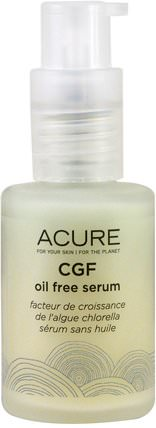 Acure Organics, CGF Oil Free Serum, 1 fl oz (30 ml) 沐浴,美容,摩洛哥堅果,痤瘡,皮膚型痤瘡皮膚