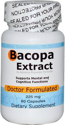 Bacopa Extract, 225 mg, 60 Capsules by Advance Physician Formulas, 草藥,bacopa(brahmi) HK 香港