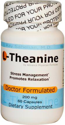 L-Theanine, 200 mg, 60 Capsules by Advance Physician Formulas, 補充劑,茶氨酸,健康,情緒 HK 香港