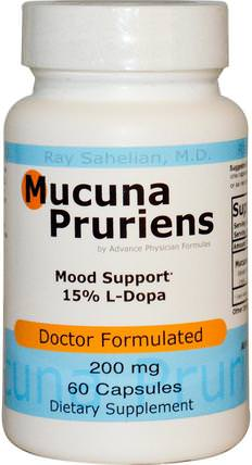 Mucuna Pruriens, 200 mg, 60 Capsules by Advance Physician Formulas, 草藥,阿育吠陀阿育吠陀草藥,mucuna HK 香港