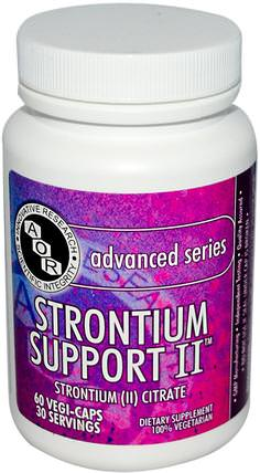 Advanced Series, Strontium Support II, 60 Veggie Caps by Advanced Orthomolecular Research AOR, 補品,礦物質,鍶 HK 香港