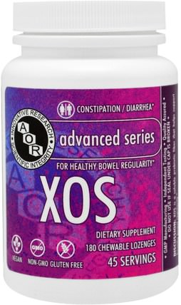 Advanced Series, XOS, Unflavored, 180 Chewable Lozenges by Advanced Orthomolecular Research AOR, 健康 HK 香港