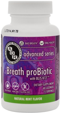 Breath ProBiotic, 60 Lozenges by Advanced Orthomolecular Research AOR, 沐浴,美容,口腔牙齒護理,口腔衛生用品,補品 HK 香港