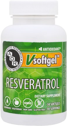 Resveratrol, 30 Softgels by Advanced Orthomolecular Research AOR, 補充劑,白藜蘆醇 HK 香港