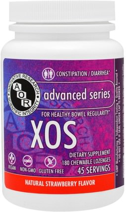 XOS, Natural Strawberry Flavor, 180 Chewables by Advanced Orthomolecular Research AOR, 健康 HK 香港