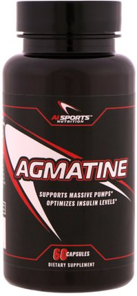 Agmatine, 60 Capsules by AI Sports Nutrition, 運動,一氧化氮 HK 香港
