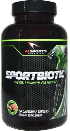 Sportbiotic, Chocolate Flavor, 60 Chewable Tablets by AI Sports Nutrition, 補充劑,益生菌,穩定的益生菌 HK 香港