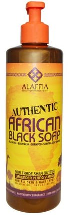 Authentic African Black Soap, Lavender Ylang Ylang, 16 fl oz (475 ml) by Alaffia, 洗澡,美容,肥皂,黑色肥皂,頭髮,頭皮,洗髮水,護髮素 HK 香港