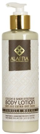 Cocoa & Shea Intensive Body Lotion, Vanilla Mocha, 8 fl oz (235 ml) by Alaffia, 乳木果油,身體護理 HK 香港