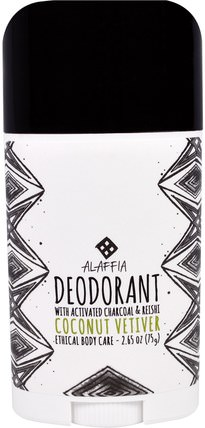 Deodorant, Coconut Vetiver, 2.65 oz (75 g) by Alaffia, 洗澡,美容,身體護理,除臭劑 HK 香港