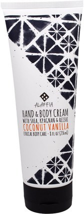 Hand & Body Cream, Coconut Vanilla, 8 fl oz (236 ml) by Alaffia, 健康,皮膚,潤膚露 HK 香港