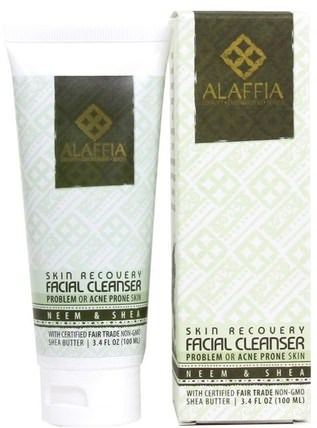 Skin Recovery Facial Cleanser, Neem & Shea, 3.4 fl oz (100 ml) by Alaffia, 美容,面部護理,面部護理,皮膚類型中性至乾性皮膚 HK 香港