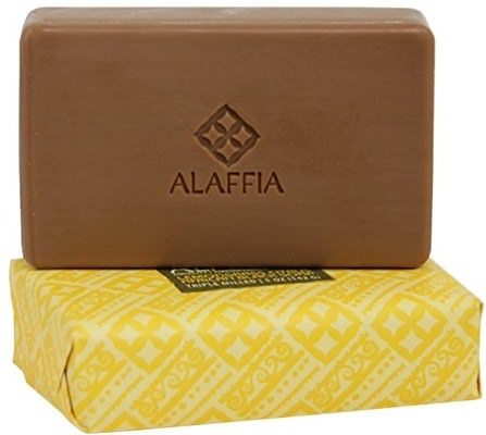 Triple Milled African Black Soap, Lemongrass Citrus, 5 oz (142 g) by Alaffia, 洗澡,美容,肥皂,身體護理,黑色肥皂 HK 香港
