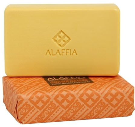 Triple Milled Shea Butter Soap, Sandalwood Ylang Ylang, 5 oz (142 g) by Alaffia, 洗澡,美容,肥皂,身體護理 HK 香港