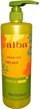 Body Wash, Passion Fruit, 24 fl oz (710 ml) by Alba Botanica, 浴,美容,沐浴露,alba botanica夏威夷線 HK 香港