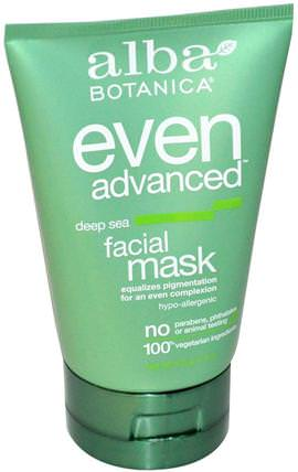 Even Advanced, Deep Sea, Facial Mask, 4 oz (113 g) by Alba Botanica, 美容,面膜,阿爾巴植物甚至先進的線 HK 香港