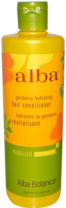 Gardenia Hydrating, Hair Conditioner, 12 fl oz (350 ml) by Alba Botanica, 浴,美容,護髮素,alba botanica夏威夷線 HK 香港