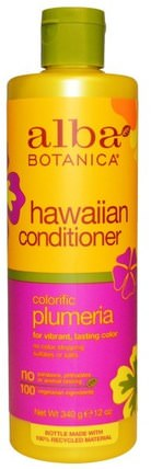Hawaiian Conditioner, Colorific Plumeria, 12 oz (340 g) by Alba Botanica, 浴,美容,護髮素,alba botanica夏威夷線 HK 香港