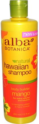 Hawaiian Shampoo, Body Builder Mango, 12 fl oz (355 ml) by Alba Botanica, 洗澡,美容,洗髮水,alba botanica夏威夷線 HK 香港