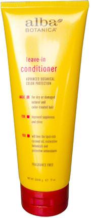 Leave-in Conditioner, Fragrance Free, 7 oz (198 g) by Alba Botanica, 洗澡,美容,護髮素,頭髮,頭皮,洗髮水,護髮素 HK 香港
