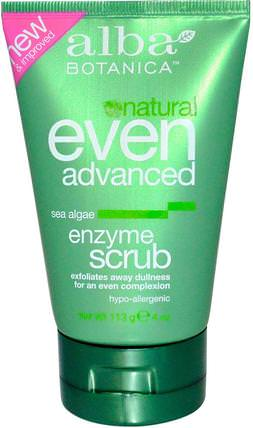 Natural Even Advanced, Enzyme Scrub, Sea Algae, 4 oz (113 g) by Alba Botanica, 美容,面部護理,洗面奶,alba botanica甚至高級系列 HK 香港