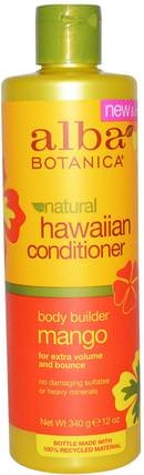 Natural Hawaiian Conditioner, Body Builder Mango, 12 oz (340 g) by Alba Botanica, 浴,美容,護髮素,alba botanica夏威夷線 HK 香港
