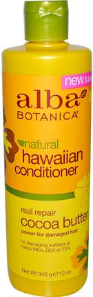 Natural Hawaiian Conditioner, Cocoa Butter, 12 oz (340 g) by Alba Botanica, 浴,美容,護髮素,alba botanica夏威夷線 HK 香港