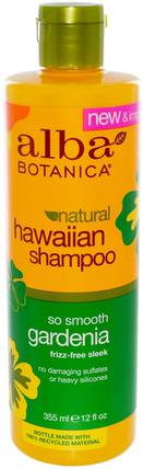 Natural Hawaiian Shampoo, So Smooth Gardenia, 12 fl oz (355 ml) by Alba Botanica, 洗澡,美容,洗髮水,alba botanica夏威夷線 HK 香港