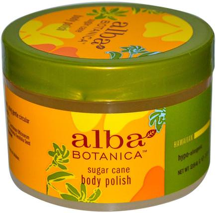 Body Polish, Sugar Cane, 10 oz (284 g) by Alba Botanica, 浴,美容,身體磨砂,alba botanica夏威夷線 HK 香港