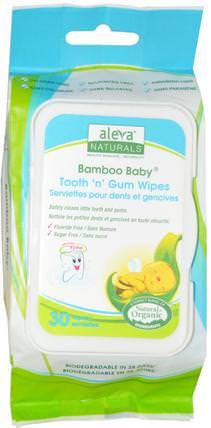 Bamboo Baby Wipes, Tooth n Gum, 30 Wipes by Aleva Naturals, 嬰兒濕巾,救援 HK 香港