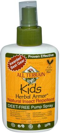 Kids Herbal Armor, Natural Insect Repellent, 4 fl oz (120 ml) by All Terrain, 家居,蟲子和驅蟲劑,嬰兒及兒童產品 HK 香港