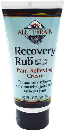 Recovery Rub, Pain Relieving Cream, 3.0 fl oz (90 ml) by All Terrain, 草藥,山金車蒙大拿州,山金車,健康,抗疼痛 HK 香港