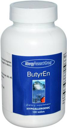 ButyrEn, 100 Tablets by Allergy Research Group, 補充劑,礦物質,鈣和鎂 HK 香港